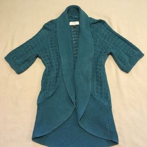 Sonoma open front teal cardigan
